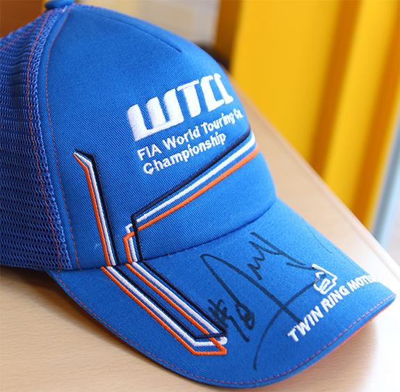 WTCC 2016 Race of Japan キャップ 帽子 ティアゴ・モンテイロ サイン