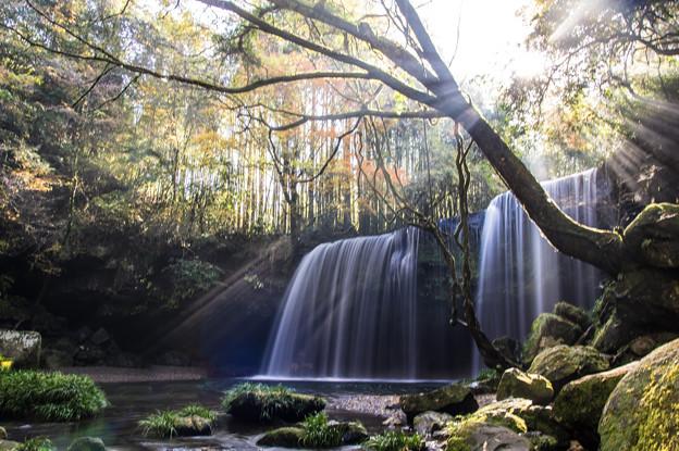 朝靄の鍋ヶ滝♪4