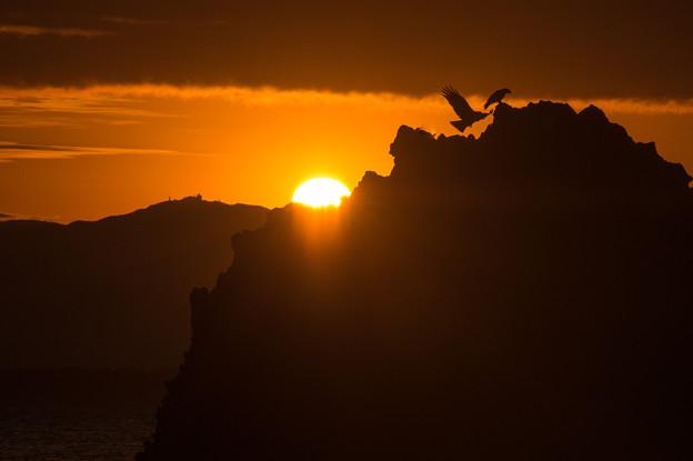 写真: 志賀島の朝焼け♪4