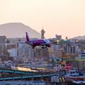 写真: 福岡空港へアプローチ♪