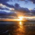 写真: 今津干潟の夕景♪