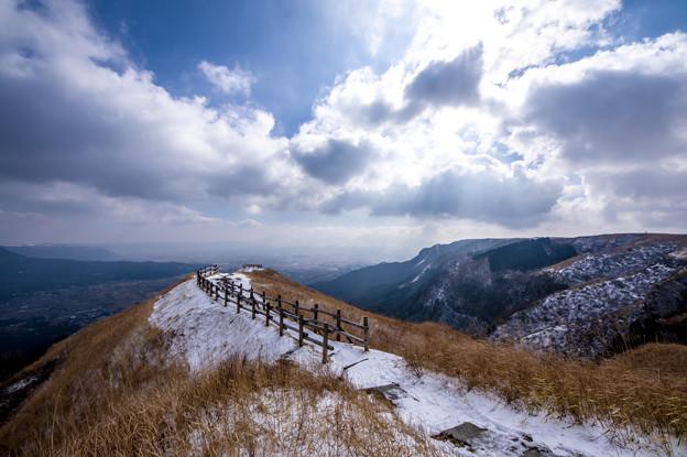 冬の阿蘇外輪山♪