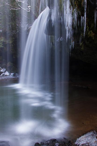 雪の鍋ヶ滝♪2