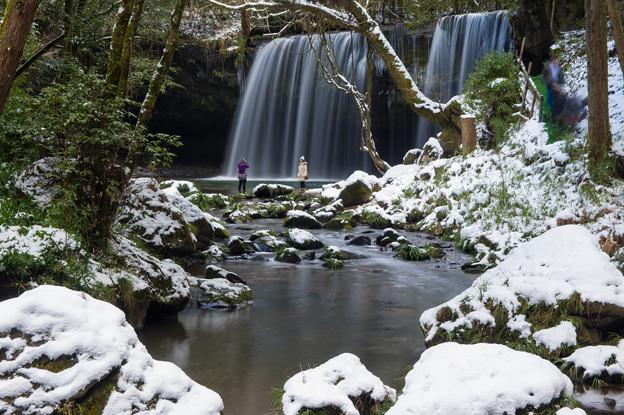 雪の鍋ヶ滝♪4