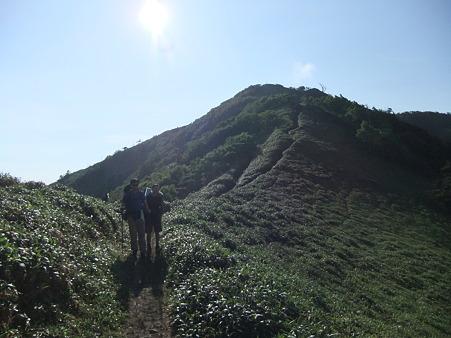 一ノ森方面への縦走路