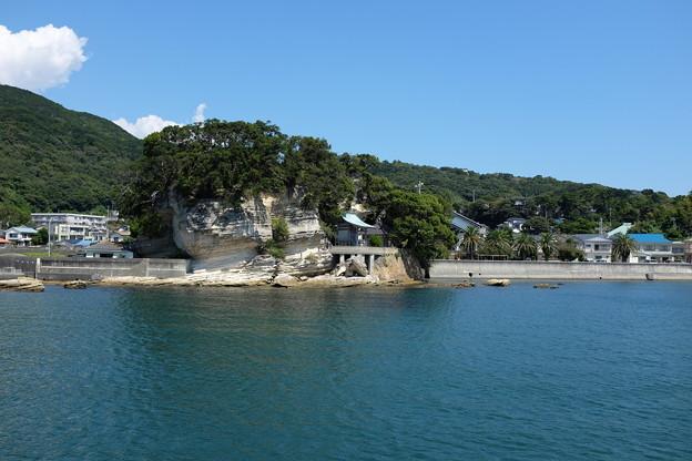 下田港の弁天島