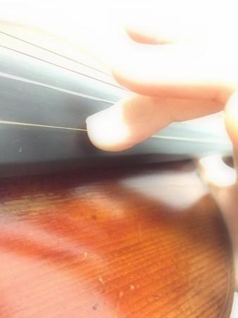 中野・江古田 バイオリン 個人レッスン ヴィオラ 吉瀬弥恵子 ワイズ音楽教室 キメる時の上向きヴィブラート