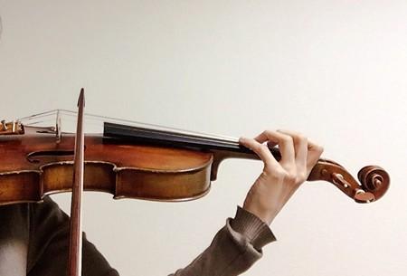 東京・中野・練馬・江古田、ヴァイオリン・ヴィオラ・音楽教室<br /> 弓先の練習