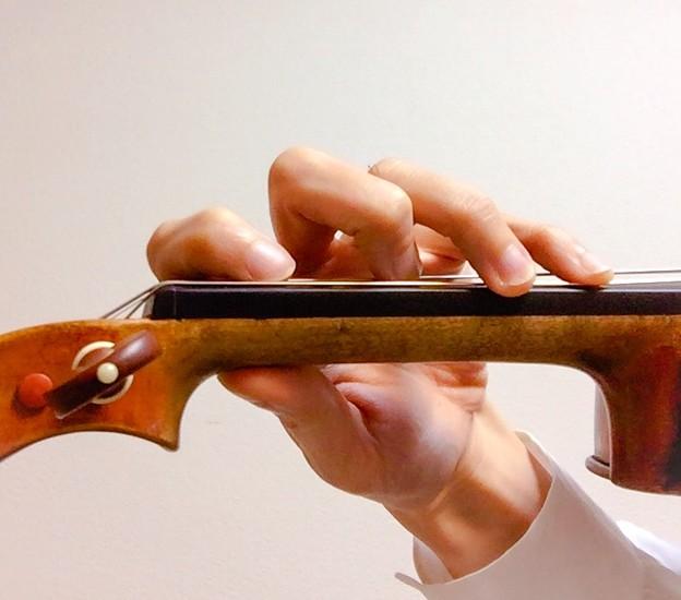 Photos: 重音の手の形
