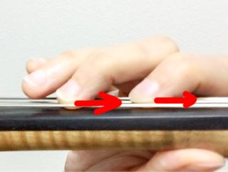 東京・中野・練馬・江古田、ヴァイオリン・ヴィオラ・音楽教室<br /> 指の押さえ方