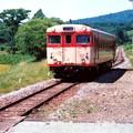 写真: 今はなきJR北海道深名線(1993年夏)天塩弥生駅にて