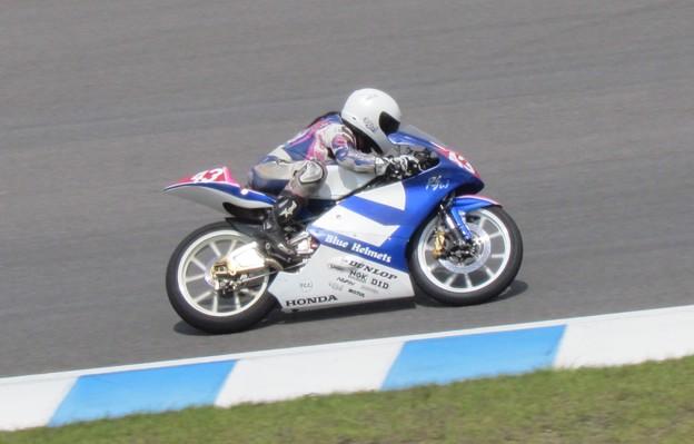 Photos: 2014 #43 足立眞衣 NSF250R Hondaブルーヘルメット 全日本ロードレース J-GP3 jrr 52