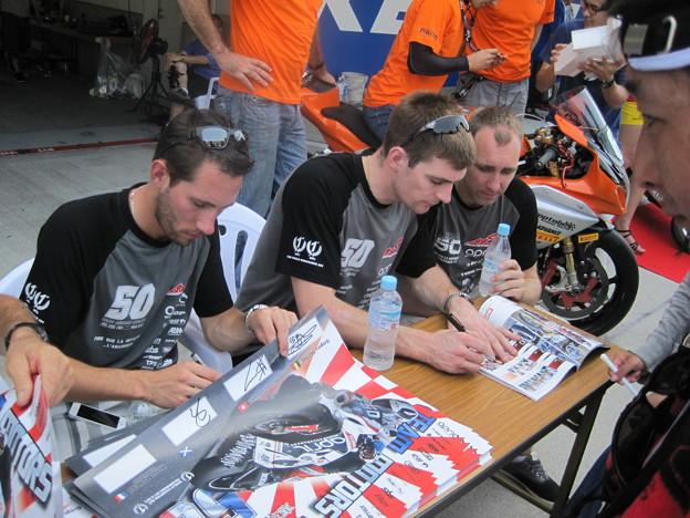 写真: 2014 鈴鹿8耐 TEAM MOTORS EVENTS APRIL MOTO Gregory FASTRE Michael SAVARY Jimmy STORRAR 97