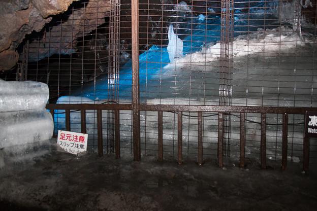 鳴沢氷穴_8月の氷柱-5295