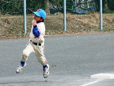 安全進塁でも全力疾走がモットーの小沢P